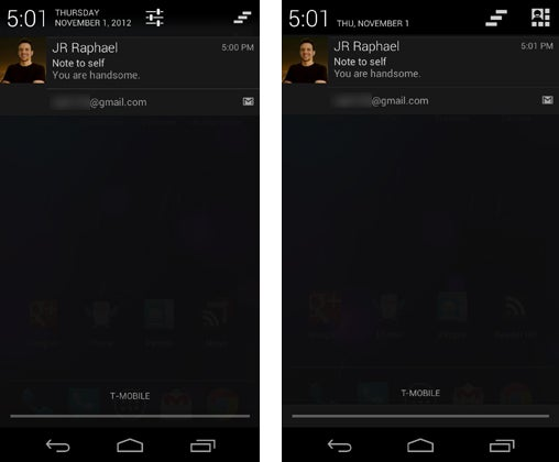 Android 4.2 Notification Pulldown