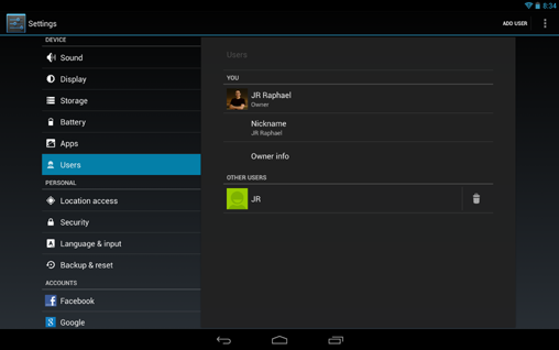 Android 4.2 Multiuser Support (1)