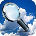 magnifying glass looking at cloud