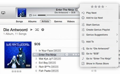 Apple iTunes 11 UpNext feature