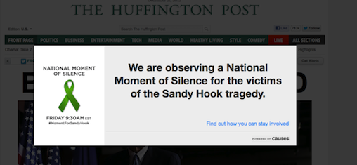 HuffPost silence