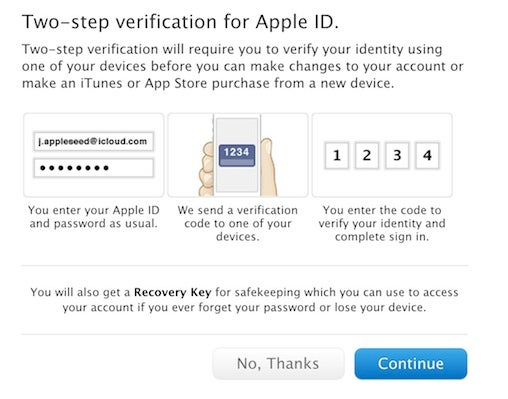 Apple two-factor security