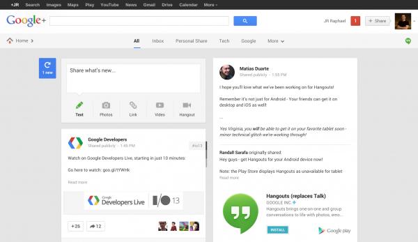 Google I/O 2013: Google Plus