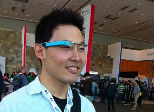 Chris Liu with Glass
