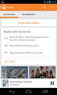 Google Play Music Radio Stations