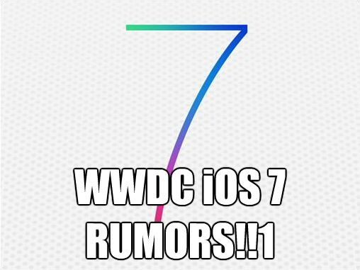 WWDC iOS 7 rumors
