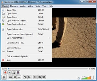 VLC interface
