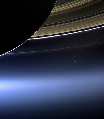 Earth photo from Saturn