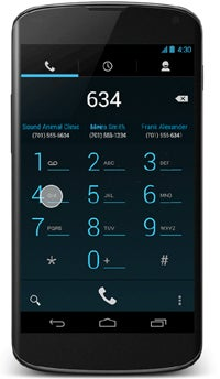 Android 4.3 Smart Dialer