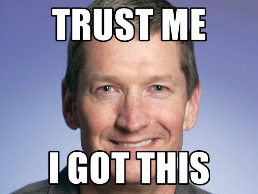 Tim Cook: Trust me