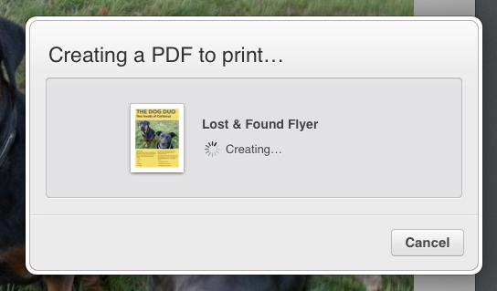 Using iWork in iCloud tools printing