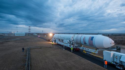 Cygnus aborad Antares rocket