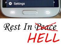 Samsung Android Menu Button