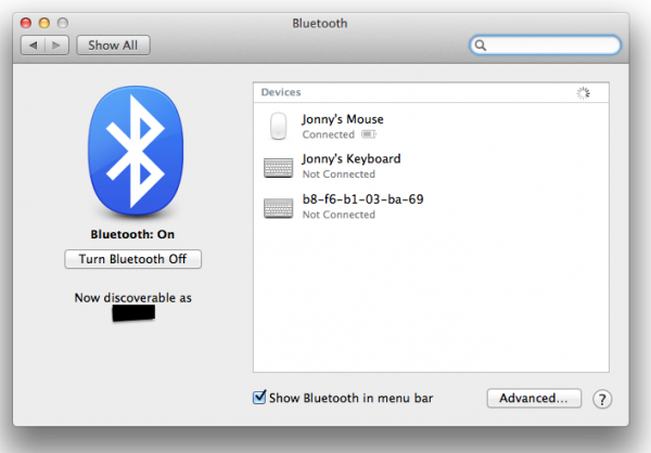 OS X Mavericks: Fixing wireless keyboard/mouse connections