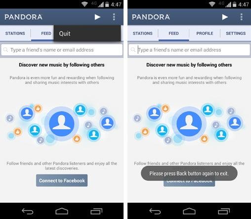 Android Design Sins: Quit