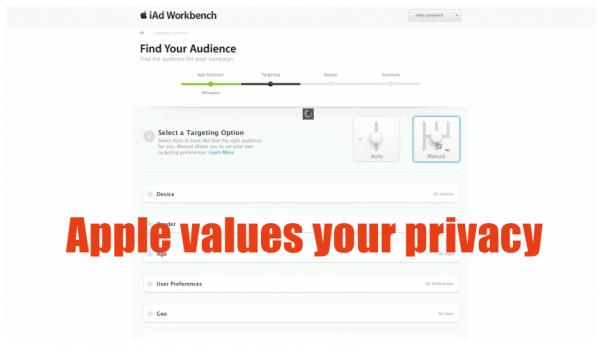 Apple values your privacy