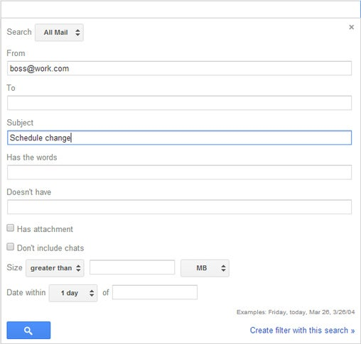 Custom Gmail Alerts Android: Filter