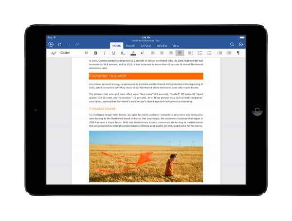 Quick guide to Office for iPad