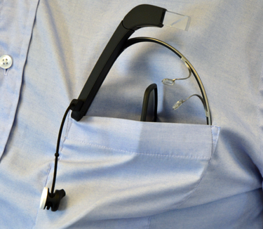 trying to cram Google Glass into a pocket