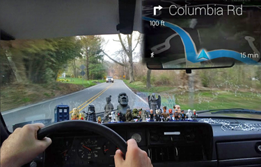 Google Glass driving directions