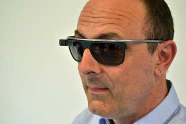 Google Glass clip-on sunglasses