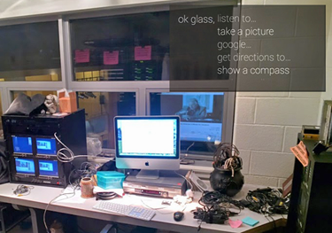 Google Glass office photo