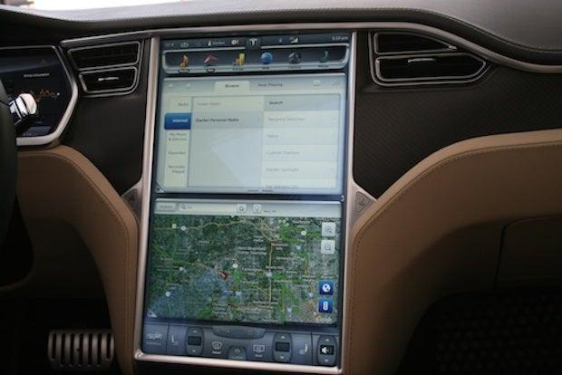Tesla instrument panel