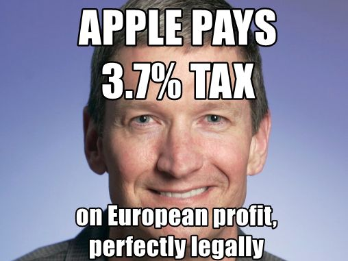 Apple pays 3.7% tax, perfectly legally