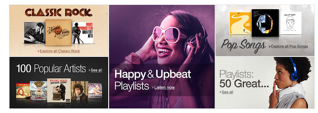 Amazon Prime Music Page