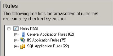 Microsoft Web Application Configuration Analyzer rule types