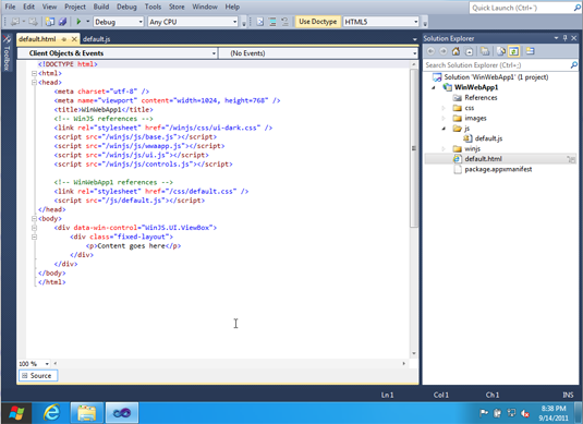 Visual Studio 11 Express lets developers create both Metro apps and Windows Phone apps from the same base code.