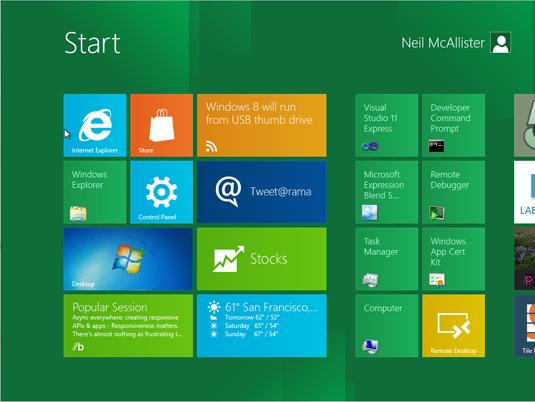 The Windows 8 Metro desktop is the new Start screen.