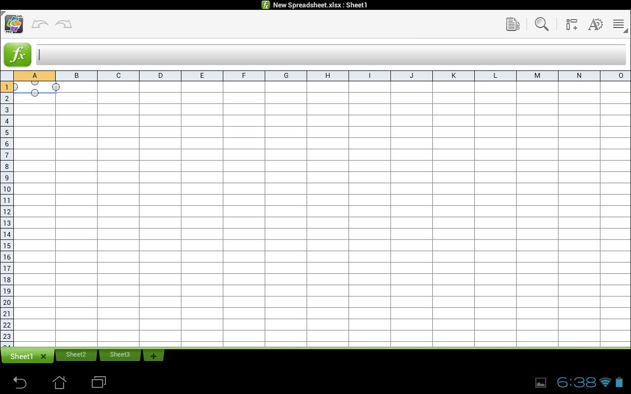 Spreadsheet - Quickoffice
