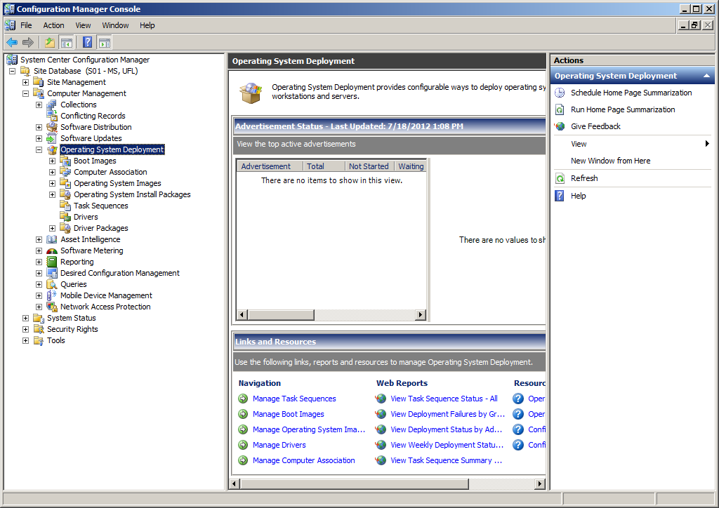 The System Center Configuration Manager