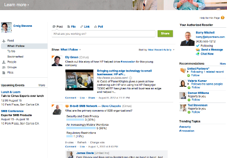 Salesforce Communities mixes business with social