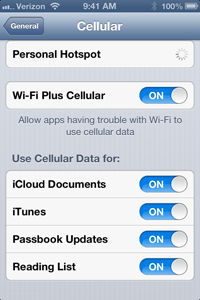 iOS 6's cellular data settings