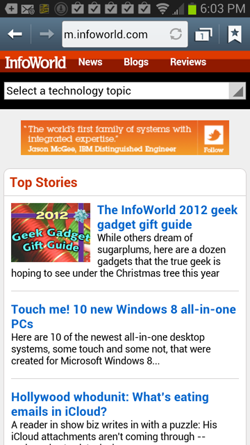 InfoWorld on Android 4.1