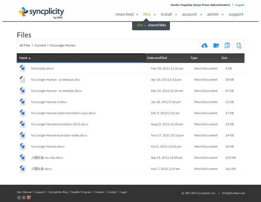 EMC Syncplicity