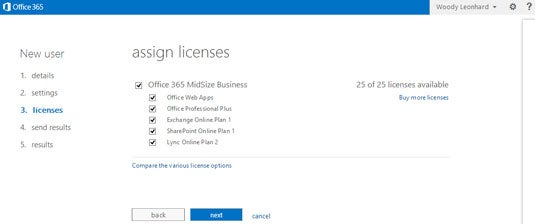 Office 365 Assign Licenses