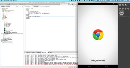 MobileChromeApps and Android Developer Tools