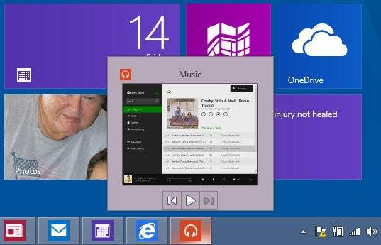 Windows 8.1 Update Metro taskbar
