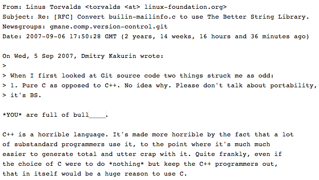 Linus Torvalds email