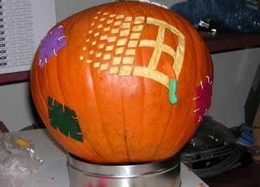 Microsoft Worm Pumpkin