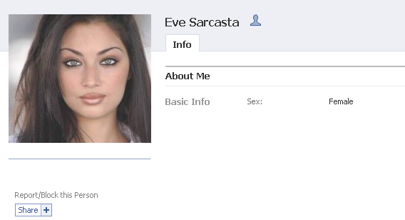 eves private facebook profile