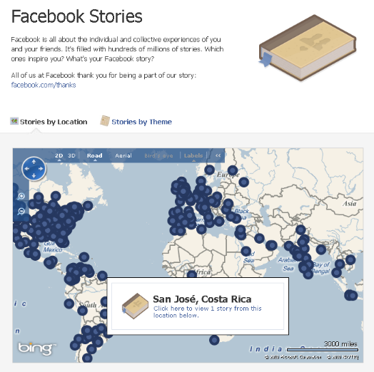 facebook stories bing map