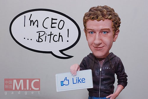 Mark Zuckerberg action figure from MIC Gadgets
