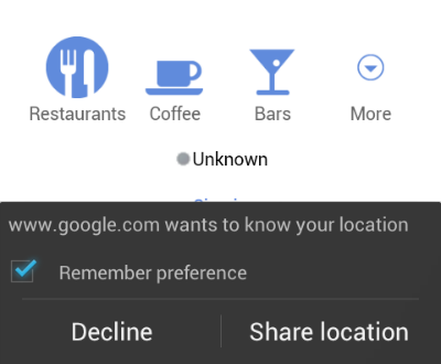 Google wants to know your location, in its browser, in its phone, which you're holding