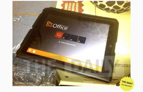Office seen on the iPad, according to The Daily
