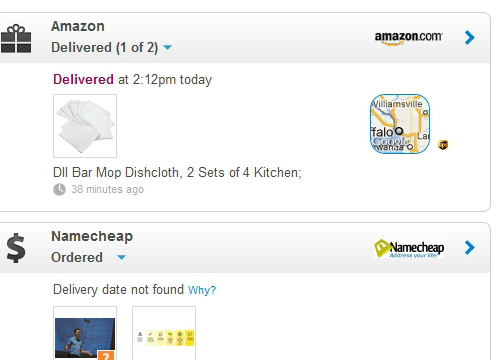 A few purchases in Slice--yes, I really do buy white kitchen towels in 8-packs from Amazon