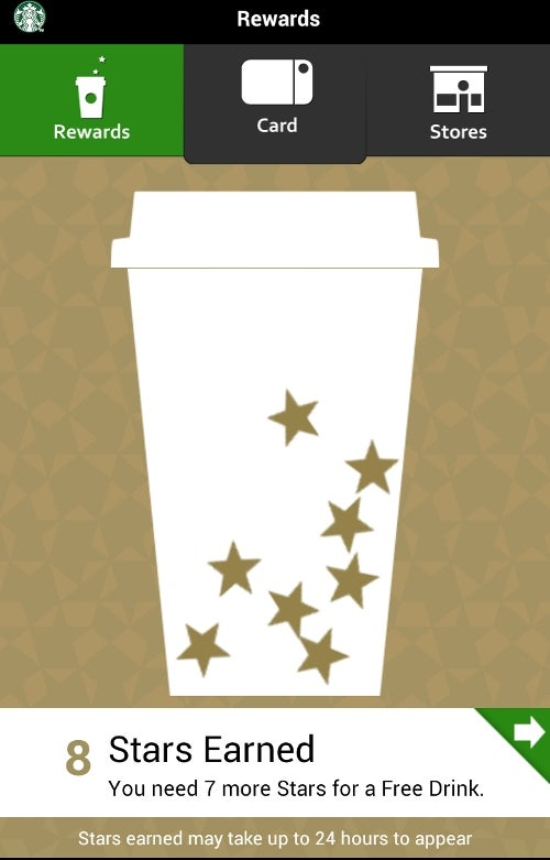 Starbucks' mobile app, which actually works as a payment system